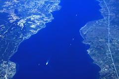 Dardanelles seen from 10km high (davidvankeulen) Tags: europe europa griekenland greece turkije turkey border grens grenze davidvankeulen davidvankeulennl davidcvankeulen urbandc