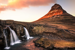 Kirkjufellfoss (Sandy Sharples) Tags: kirkjufell mountain iceland waterfall landscape sunset goldenhour travel nature