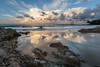 Snapper Rocks reverse sunset (pbaddz) Tags: beach snapperrocks sunset rainbowbay pacificocean australia reflections clouds rocks goldcoast queensland