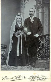 Alfred Rapp and his bride Alma