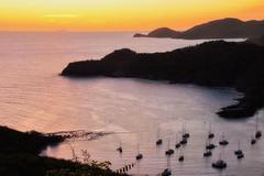 Antigua Sunset (robin denton) Tags: antigua barbuda sunset englishharbour harbour harbor caribbean caribe westindies seascape landscape coastline coast yachts