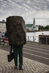 Blockhead (floydno5) Tags: unknown bureaucrat reykjavik iceland statue artwork blockhead