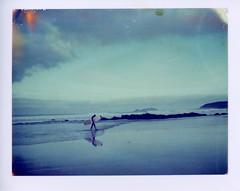 (Matt Chalky Smith) Tags: roidweek polaroid 669 polaroidsilk surfer gwithian godrevy instantsurf wwwinstantsurfcouk surfing reflection