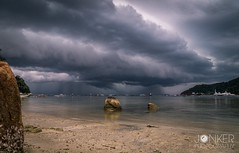 'Tropical storm' (melvinjonker) Tags: weather landscapelovers landscape mothernature naturelovers nature rain thunderstorm thunder contrast sea water island maleisie tioman beach tropical clouds storm