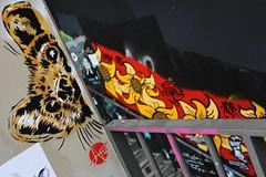 Nice Art + Paddy_4739 boulevard du Général Jean Simon Paris 13 (meuh1246) Tags: streetart paris boulevarddugénéraljeansimon lelavomatik paris13 niceart paddy animaux furet fleur