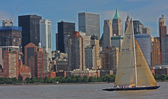 Sail Boat Race as seen from Liberty Park in Jersey City, NJ (1 of 6) (gg1electrice60) Tags: jerseycity newjersey nj libertystatepark libertypark historicplace newyorkharbor audreyzappdrive freedomway saltwater unitedstates us usa america welcomeimmigrants outdoor vessel boat ship sailboat brooklynskyline manhattenskyline newyork newyorkcity newyorkstate nyc sailingvessel sloop spinakar sails mainsail mast rigging people sailers crane