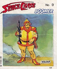 BOOMER / Space Chase 9 (micky the pixel) Tags: ephemera einwickelpapier wrappingpaper papierdemballage vignettes chewinggum kaugummi bubblegum kaugummibilder comic sf scifi sciencefiction boomer spacechase voltar consa