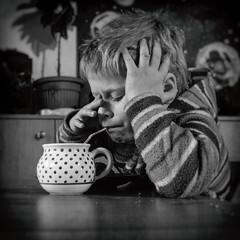 Morning (I.Dostál) Tags: morning boy early kid cacao milk drink sleepy