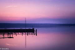 Before the Big Freeze (brookis-photography) Tags: ammersee sunset pier pink purple water lake bavaria