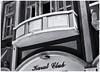 Karat Club (Black and White Fine Art) Tags: kodakretinete1a1960 kodakreomar50mm niksilverefexpro2 lightroom3 perspectiva perspective balconessanjuaneros sanjuanbalconies sanjuan oldsanjuan viejosanjuan puertorico bn bw
