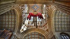 cross (Nightraven1979) Tags: burystedmonds church cross red hdr religion cathedral edmondsbury stedmondsbury