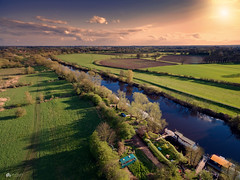 Sunny sunday from the sky... (Kerriemeister) Tags: aerial photography drone phantom 3 river riverbank ouse york yorkshire boats fields trees