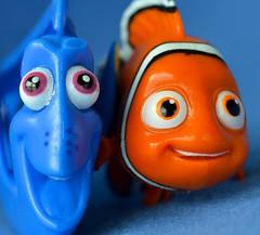 Buddies (linda_lou2) Tags: macromondays blueandorange macro 60mm nemo dory findingdory findingnemo fish toy disney