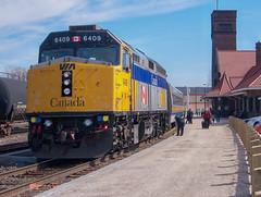 Via Rail Throwback (Joseph Bishop) Tags: via 6409 emd f40ph2 trains train track tracks railfan railroad railway rail rails cndundassubdivision brantford