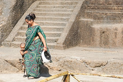 Mom and son - Mumbai (DecaFlea) Tags: india bombay mumbai colorful color colors exploring explore asia travel travelling mom son caves explored green dress