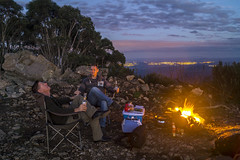 Campfire - Mt Coree (cheekeemonkeez) Tags: act mt coree uriarra cotter bush landrover camping campfire sony a58 stars sunset