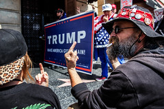 Trump March, Hollywood. (drpeterrath) Tags: canon eos5dsr 5dsr trump march hollywood losangeles color lacp naturallight outdoor people portrait street streetphotography politics photojournalism protest