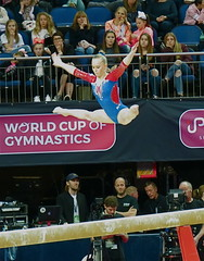 Straddle Jump, Beam (Skoda Girl) Tags: ladies gymnastics gymnast beam straddle jump world cup o2 2017 russia sport artistic