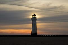 Perch Rock Lighthouse Glow (David Chennell - DavidC.Photography) Tags: wirral newbrighton perchrocklighthouse lighthouse sunset twilight dusk merseyside