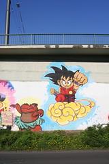 Dragonball mural (Jürgo) Tags: streetart streetartgermany streetartfrankfurt streetartffm frankfurt frankfurtammain frankfurtbockenheim frankfurtstreetart ffm dragonball