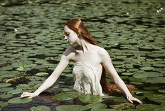 I find shelter in this way (alexandra_bochkareva) Tags: helios hair redhead red girl girlish ginger green woman water wonderland beauty light