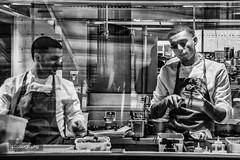 The chefs... (Alex Chilli) Tags: skygarden london fenchurchstreet chefs kitchen cook make prepare mono blackandwhite monochrome canon 70d eos canonuk