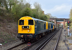 0Z50 20205 + 20189 + 50049 Kidderminster SVR - East Grinstead (Adam McMillan Railway Photography) Tags: br blue 20205 20189 drag large logo 50049 east grinstead with 0z50 kidderminster svr bluebell railway heritage