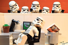 Slacking Off at the Job (RagingPhotography) Tags: lego death star wars humor office funny toy plastic minifigures minfig laugh lazy slacking off ragingphotography