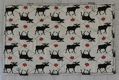 Sesquicentennial place mats (shireye) Tags: canada sesquicentennial 150 canadaturns150onjuly12017 placemat mapleleaf moose sewing quilting imadethis 18672017