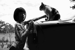(^ ^ ^) Tags: littlegirl cat