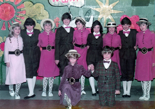 1983 Robinson Crusoe 19 (back from left x,x,Rachel Hancock, Sarah Scarborough, Louise Eyre, Ruth Daniels, Lisa Young,x,Julie Waterman, front x, Lisa Scarborough)