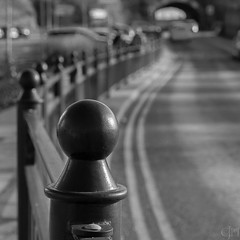 The Fence of Bobbles (fragglerocks) Tags: bw fraggle fujixt1 southshields hff