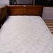 Bed with matress wood headboard