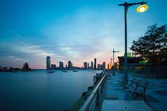 Pier 25 (Photos By RM) Tags: pier25 newjersey cafe sunset canonmarkiii manhattan pier newyorkcity nyc longexposure filter leebigstopper canon