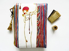 waterproof wallet, pretty girl. (Jigglemawiggle) Tags: waterproofpouch 1900s prettygirl jigglemawiggle etsy folksy handmade scotland selkirk