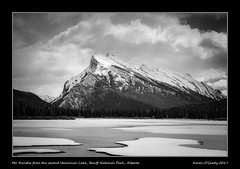 Mt. Rundle from the second Vermilion Lake, Banff National Park, Alberta (kgogrady) Tags: banffnationalpark landscape mtrundle spring vermilionlakes banff alberta canada acros 2017 blackandwhite canadianlandscapes blackwhite canadianrockies albertalakes albertalandscapes bw canadianmountains canadiannationalparks ab canadianlakes canadianrockieslanscape parkscanada rockymountains westerncanada mountains mountrundle xf18135mmf3556oiswr nopeople trees rocky noone rockies mountainlakes xt2 fujifilm fujifilmxt2 fujinon