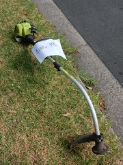 Unwanted Whipper Snipper (mikecogh) Tags: glenelg unwanted sign hardrubbish brushcutter powertool whippersnipper lawntrimmer trimmer motortrimmer