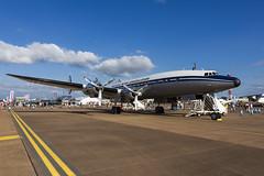 Lockheed L-1049F Super Constellation - 1 (NickJ 1972) Tags: raf fairford royalinternationalairtattoo riat airshow 2013 aviation lockheed l1049 constellation hbrsc starofswitzerland breitling