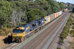 2017-03-17 Pacific National NR90-8220-NR64 Wandong 6MC2 (deanoj305) Tags: pacific national riverina intermodal container train 6mc2 nr90 8220 nr54 wandong vic northeast line