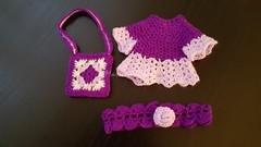 (Martina&Chloè_Blythe) Tags: lila bolso diadema manualidades crochet blythe muñecas