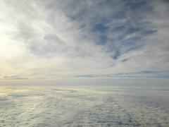 Between two skies (Claude Marco) Tags: sky cielo ciel cloud nubes nuvole sight landscape paradise silence light infinity life amazing blue azul plane avion