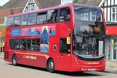 National Express West Midlands Alexander Dennis Enviro400 MMC 6148 (SN15 LHV) (john-s-91) Tags: nationalexpresswestmidlands alexanderdennisenviro400mmc 6148 sn15lhv solihull route966 kongskullisland