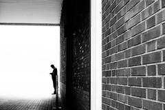 One (MobilShots) Tags: blackandwhite monochrome streetphotography highkey light shadow man silhouette wall fujifilm xt1 fuji fujixseries fujifeed fotografhamburg fotograf city hamburg blende1net