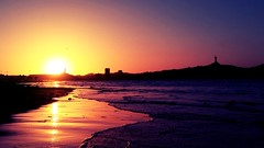 Sunset in Changa Beach (pilar.cutu) Tags: sunset coquimbo playachanga chile sun beach sea