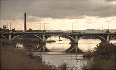 0087-ATARDECER SOBRE EL GUADIANA (Badajoz) (--MARCO POLO--) Tags: ciudades rincones arquitectura puentes atardeceres