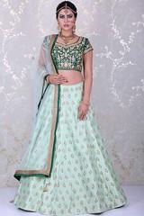 Pastel green lehenga choli from Samyakk, Bangalore (Samyakk_clothing) Tags: lehenga followme dress india bangalore embroidered