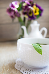Mint tea, violas flowers and Good morning note (EgyElet) Tags: old blue summer plant flower green clock cup nature glass floral beauty breakfast garden season relax leaf spring healthy flavor purple floor natural time tea drink decorative seasonal beverage decoration pansy violet mint lifestyle nobody fresh note indoors morocco health bloom vase organic therapy copyspace diet teacup relaxation goodmorning healing aromatic viola herb herbal peppermint aroma aromatherapy fieldpansy