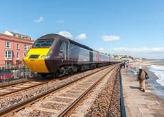 43714 (Steve Franklin Images) Tags: train seawall crosscountry devon hst dawlish passengertrain highspeedtrain class43 ic125 dieseltrain
