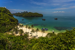 Landscape (Fevzi DINTAS) Tags: ocean travel sea sky holiday tourism beach nature landscape thailand island hotel boat asia places visit palm adventure exotic samui destination nationalgeographic paza140