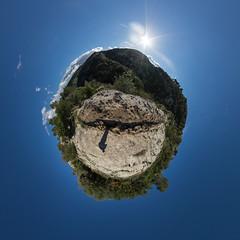 Necropolis of Pantalica (HamburgerJung) Tags: panorama pentax fisheye planet sicily sicilia necropolis k3 stereographic hugin sizilien pantalica littleplanet da1017 necropolisofpantalica